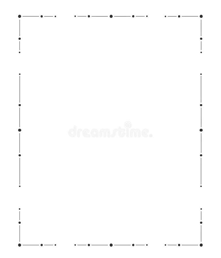 Hand getrokken frame Decoratieve elementen, patronen stock illustratie