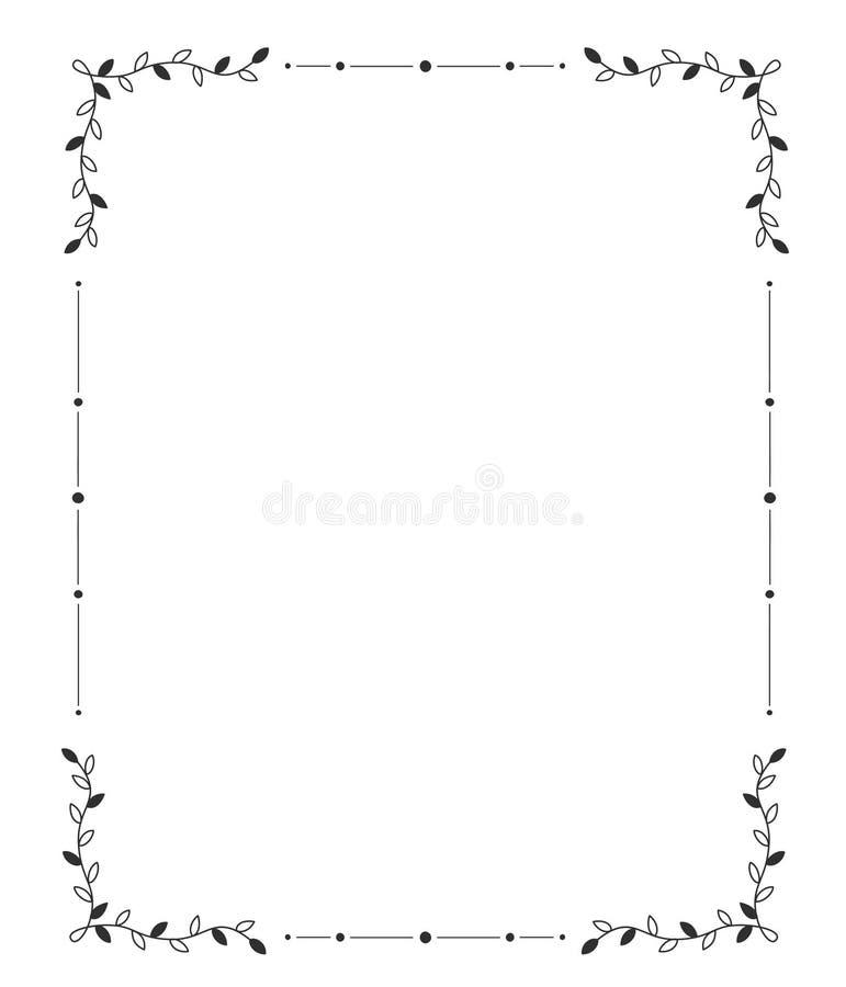 Hand getrokken frame r vector illustratie