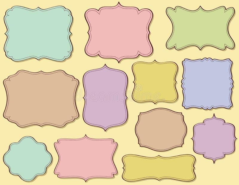 Hand getrokken frames vector illustratie