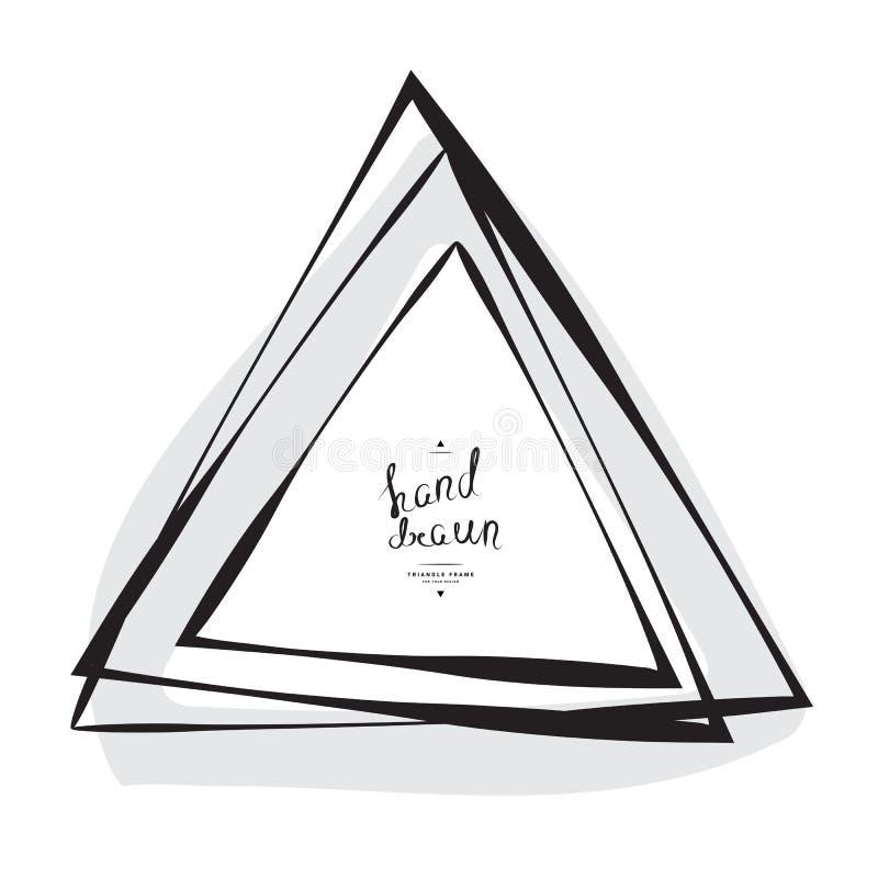 Hand Getrokken Geschetste Driehoek vector illustratie