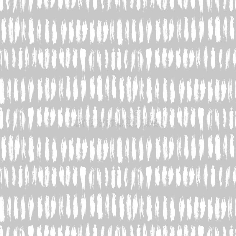 Hand getrokken gestreept naadloos patroon royalty-vrije illustratie