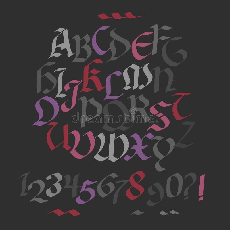 Hand getrokken gotische inktpen vector illustratie