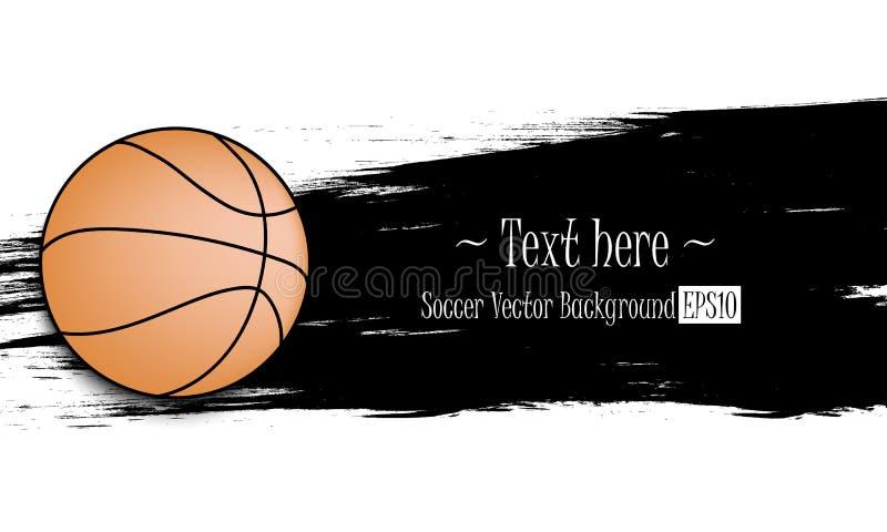 Hand getrokken grunge banners met basketbal vector illustratie