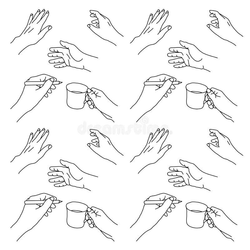 Hand getrokken handenillustratie vector illustratie