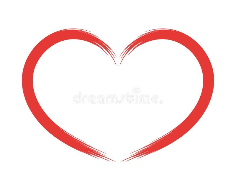 Hand getrokken hart, ontwerpelement voor de Dag van Valentine, pictogram VectordieVoorwerp op witte Achtergrond wordt geïsoleerd vector illustratie
