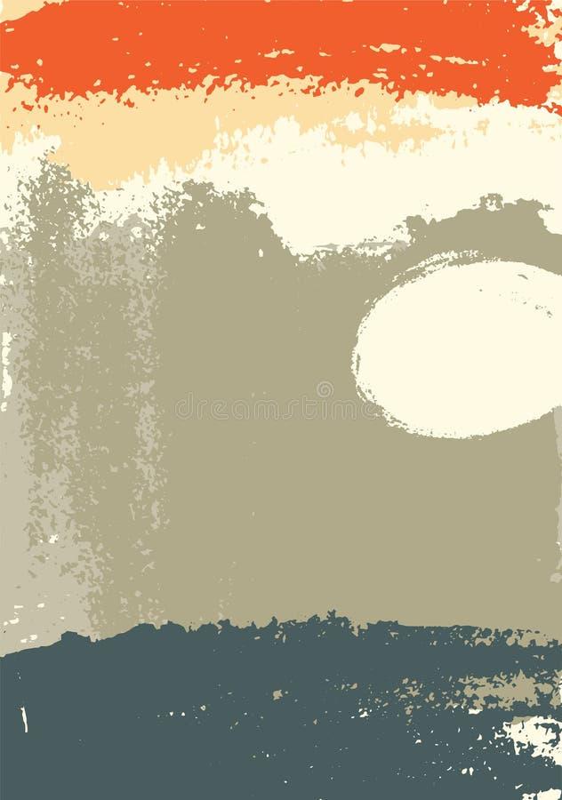 Hand getrokken het schilderen de vlek abstracte achtergrond van borstelslagen Vector illustratie royalty-vrije illustratie
