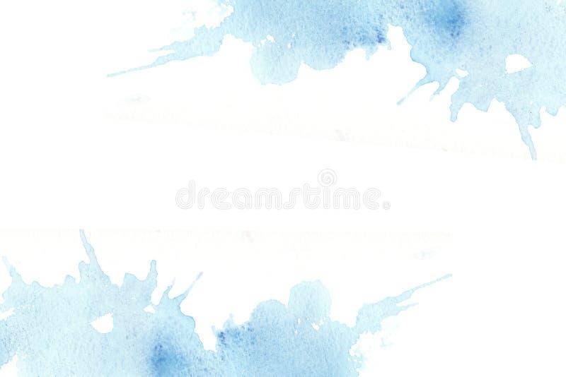 Hand getrokken kleurrijk waterverf abstract kader met vlekken vector illustratie