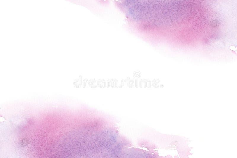 Hand getrokken kleurrijk waterverf abstract kader met vlekken royalty-vrije illustratie