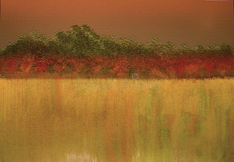 Hand getrokken landschapsmening Achtergrond van de Grunge de geweven heldere aard royalty-vrije stock fotografie