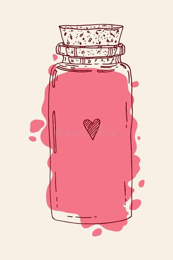 Hand getrokken liefdekruik vector illustratie