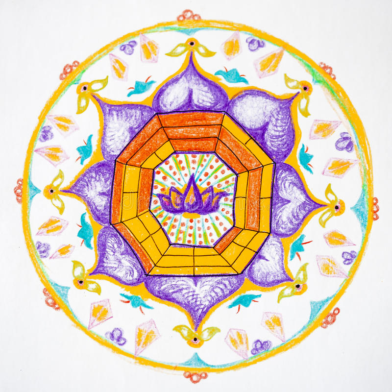 Hand getrokken mandala royalty-vrije illustratie