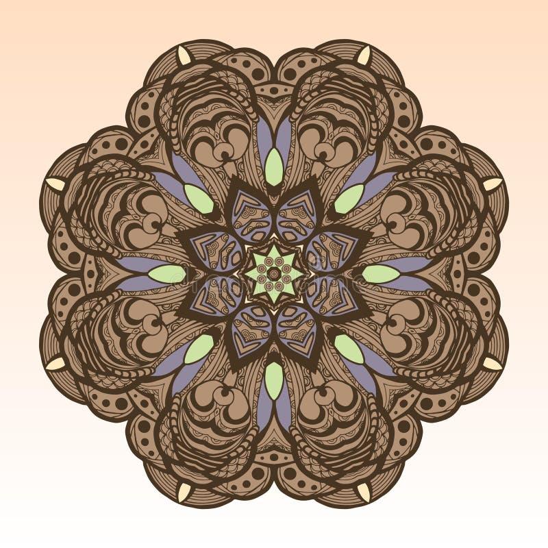 Hand getrokken mandala stock illustratie