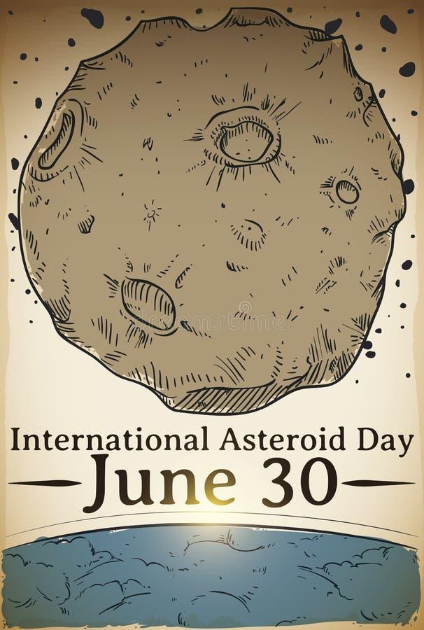 Hand Getrokken Ontwerp om Internationale Stervormige Dag, Vectorillustratie te vieren stock illustratie