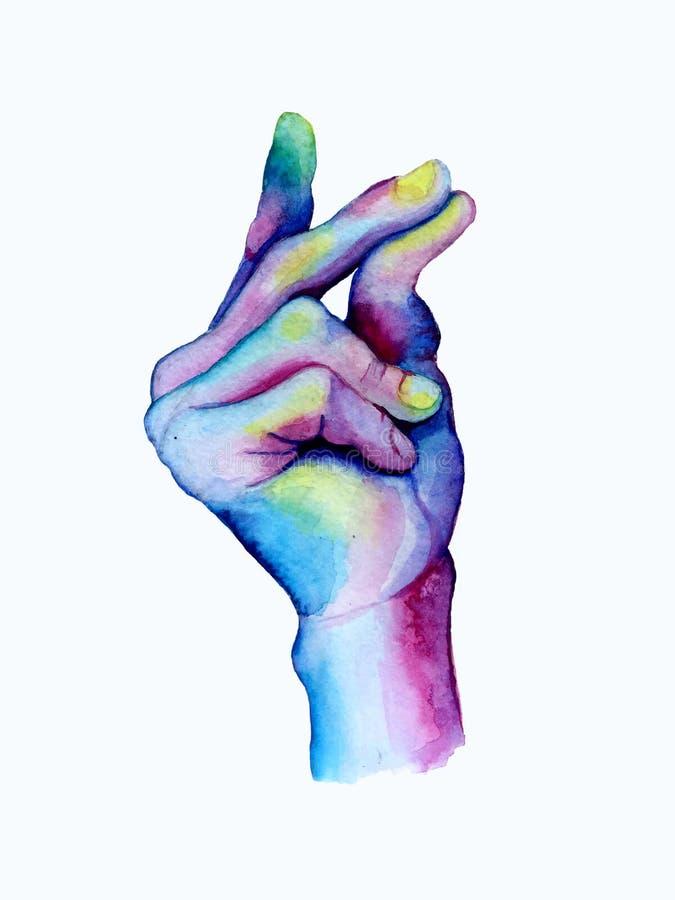 Hand getrokken onverwachte vingers stock illustratie