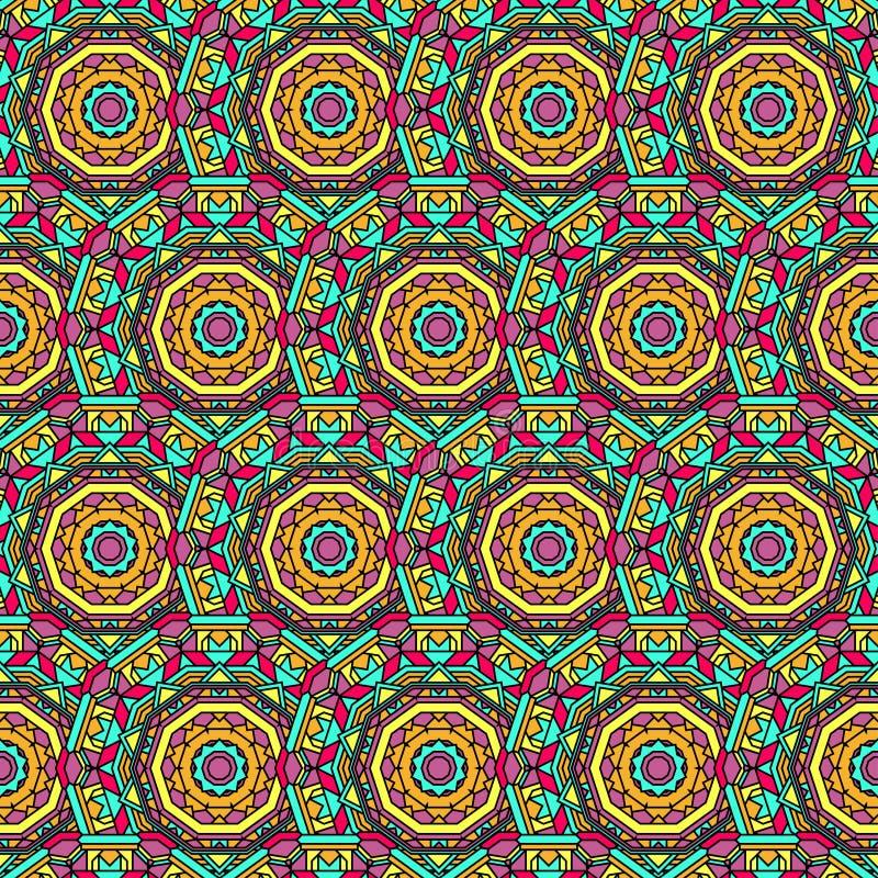 Hand getrokken oosters sier etnisch kant om achtergrond van het mandala de naadloze patroon vector illustratie