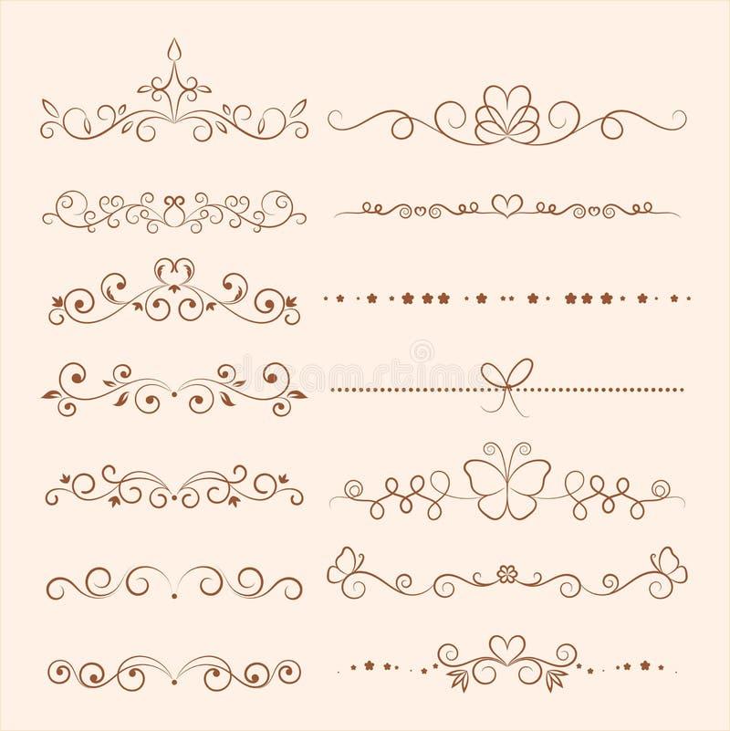 Hand getrokken ornamenten voor uitnodiging, gelukwens en g vector illustratie