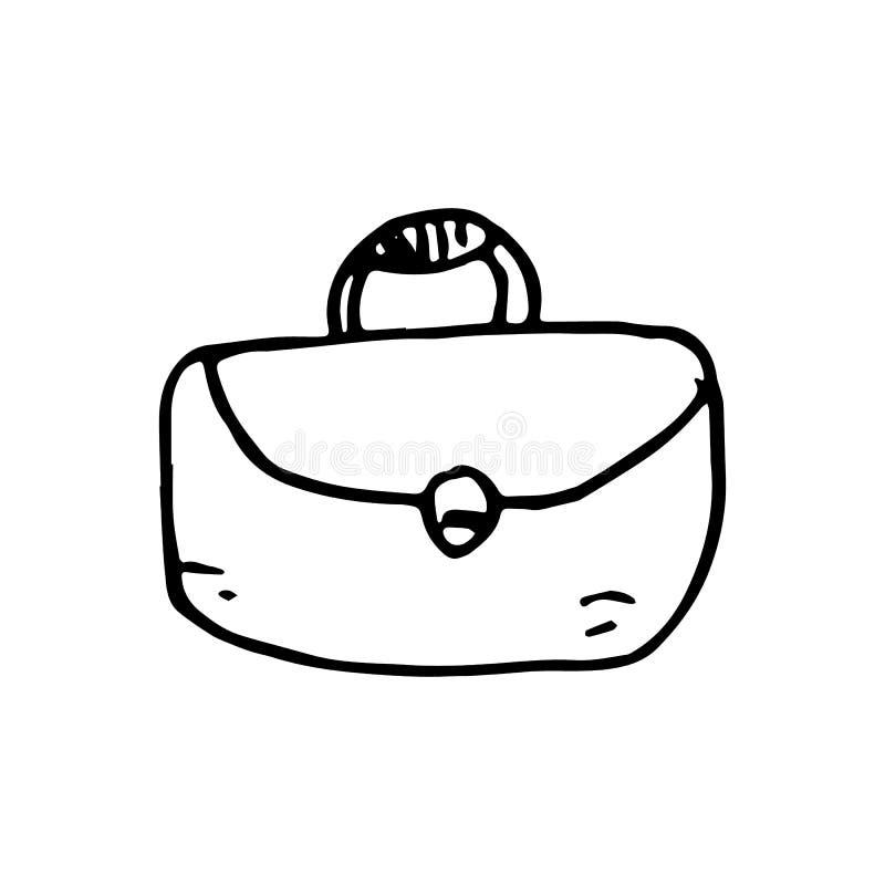 Hand Getrokken portefeuillekrabbel Het pictogram van de schetsstijl Decoratie eleme vector illustratie