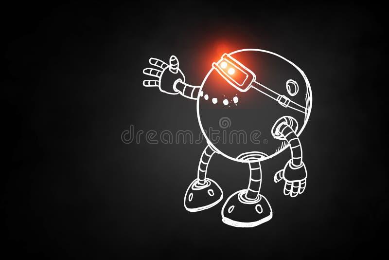 Hand getrokken robot vector illustratie