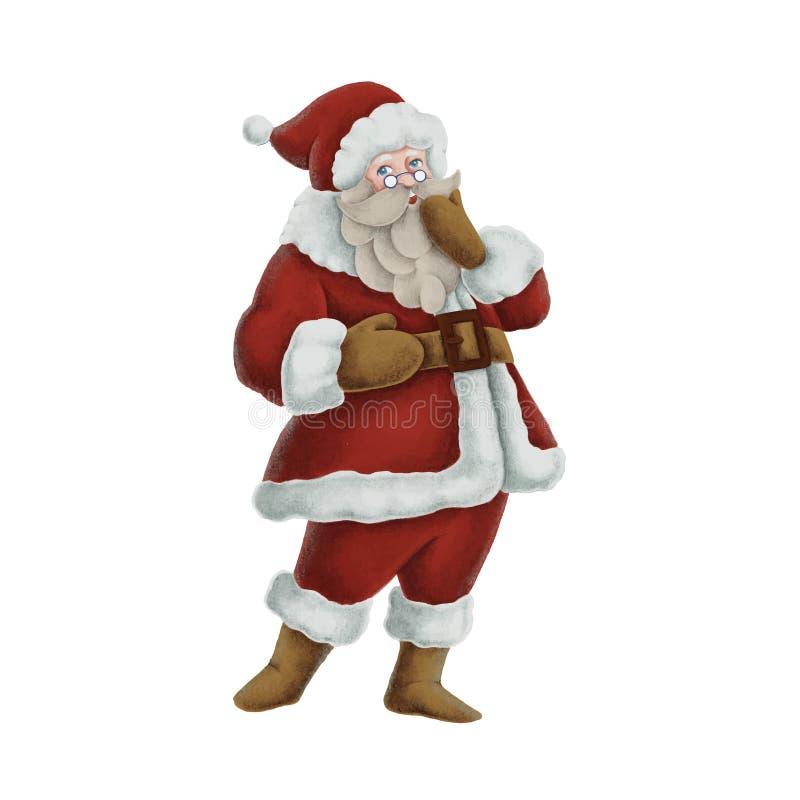 Hand getrokken Santa Claus-illustratie royalty-vrije illustratie