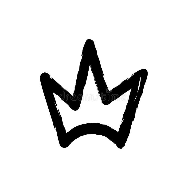 Hand getrokken silhouet van kroon vector illustratie