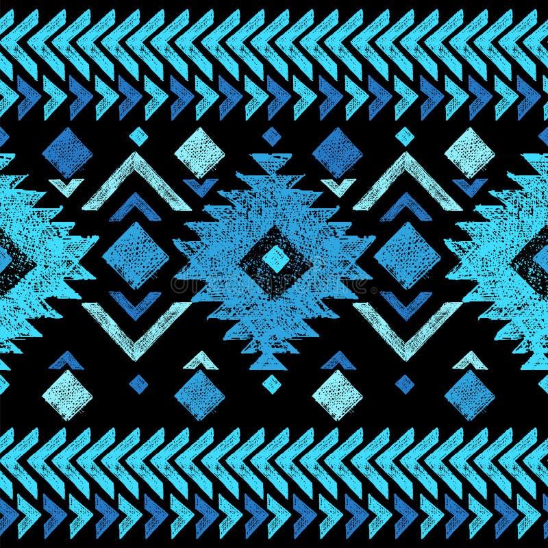 Hand getrokken stammen naadloos patroon stock illustratie