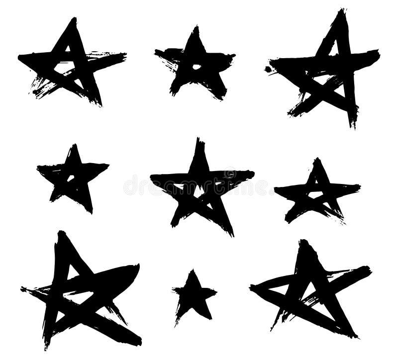 Hand getrokken sterren stock illustratie