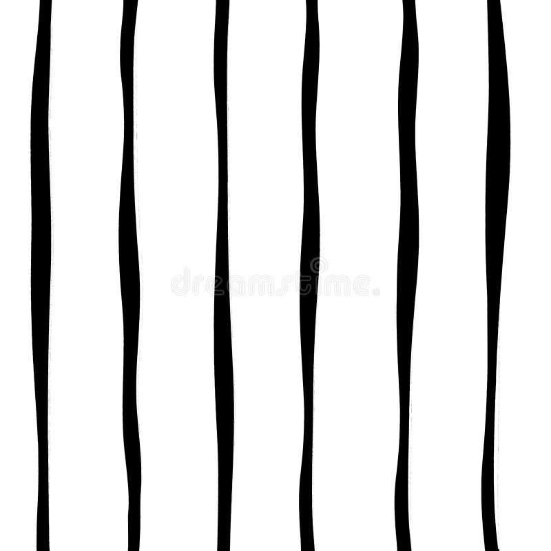 Hand getrokken Stripey-lijnpatroon royalty-vrije illustratie