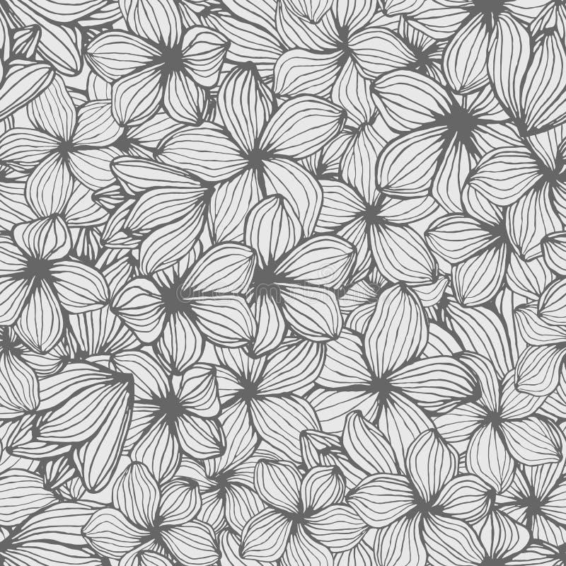 Hand getrokken tropische heldere deliciosa van bloemenmonstera, naadloos patroon royalty-vrije illustratie