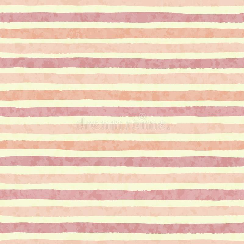 Hand getrokken vector geweven grungestrepen van rood en oranje kleuren naadloos patroon vector illustratie