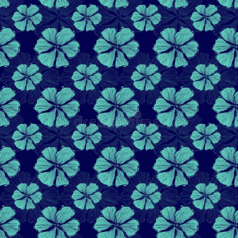 Hand getrokken vector herhaalt naadloos patroon royalty-vrije illustratie
