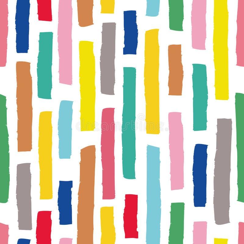 Hand getrokken vector naadloos patroon in eenvoudige stijl met strepen voor textielontwerp, document, het brandmerken royalty-vrije illustratie