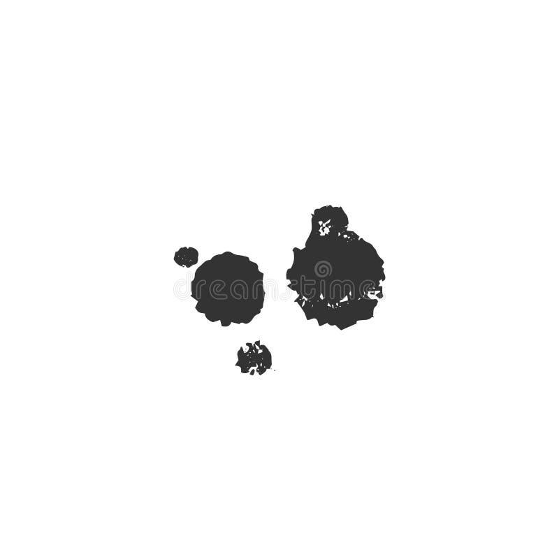 Hand getrokken vectorpictogram, een inktvlek Creatief Wedstrijdthema royalty-vrije illustratie