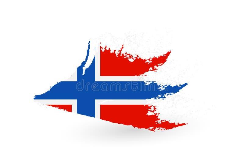 Hand getrokken vlag van Noorwegen vector illustratie