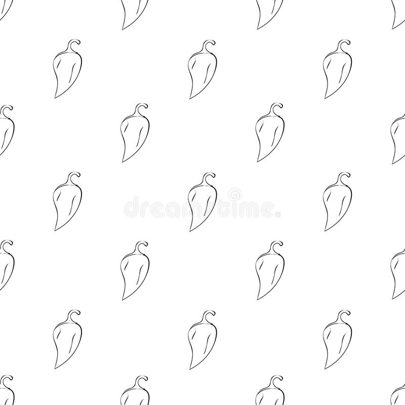 Hand getrokken voedselpatroon stock illustratie