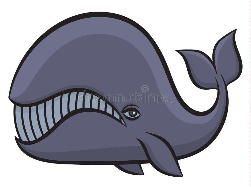 Hand getrokken walvis royalty-vrije illustratie
