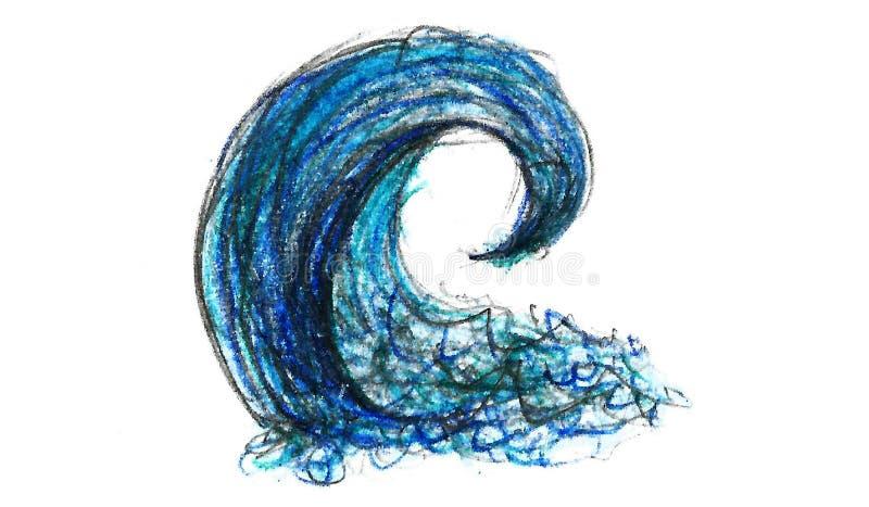 Hand Getrokken Watergolf royalty-vrije illustratie