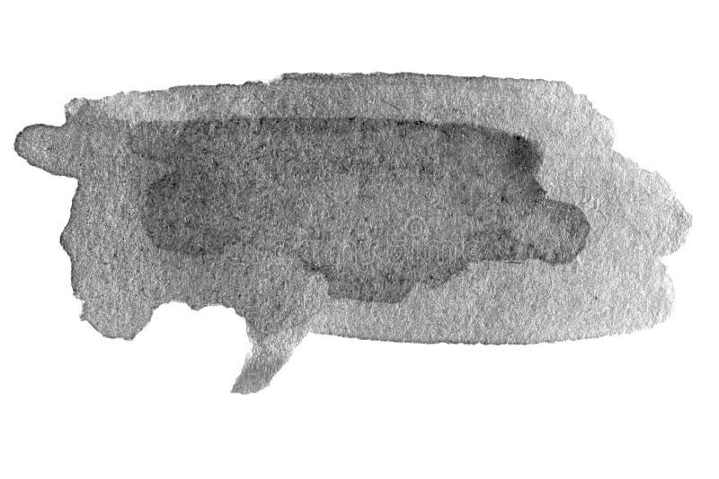 Hand getrokken waterverf zwarte vlek royalty-vrije illustratie