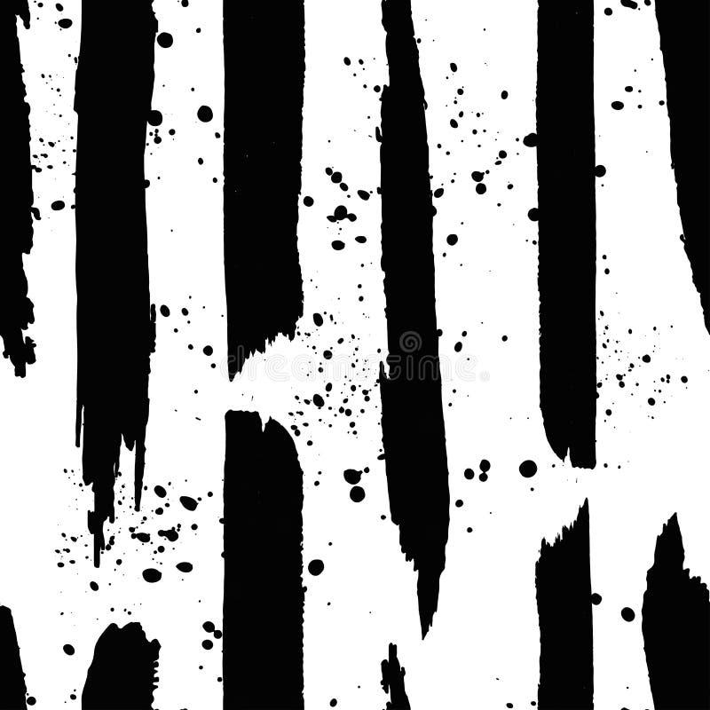Hand getrokken zwarte inktlijn en plons stock illustratie