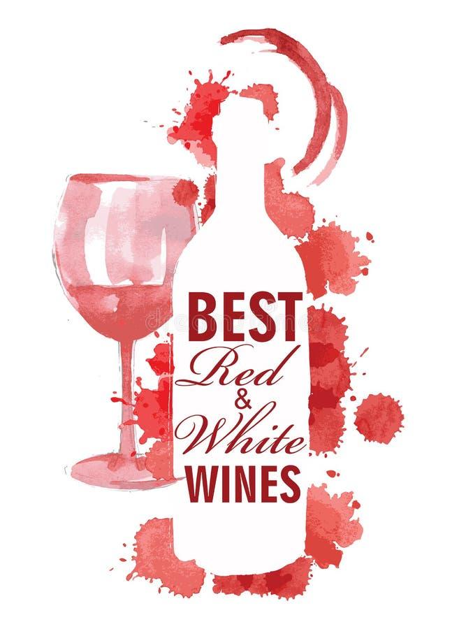 Hand gezeichnet von den Weinfahnen lizenzfreie abbildung