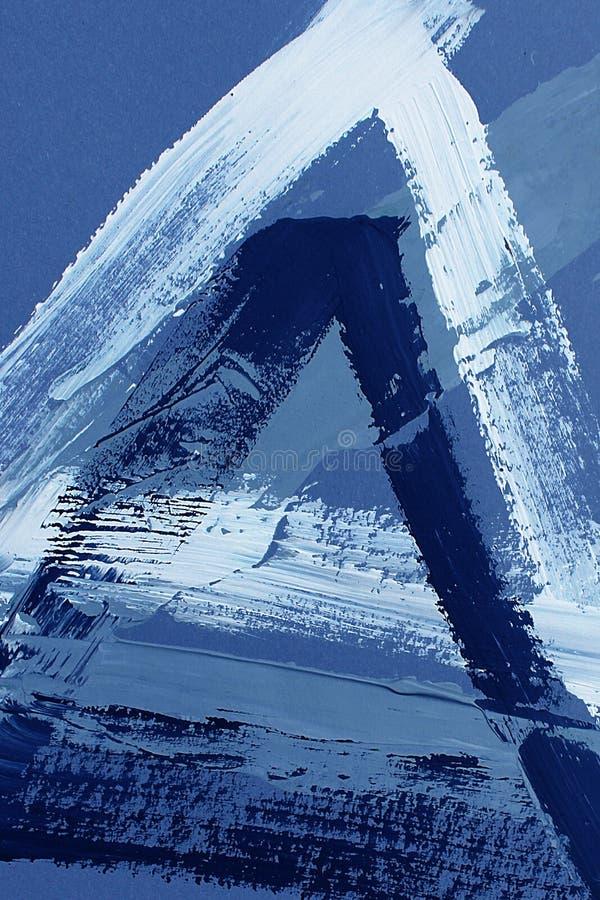 Hand gezeichnete Acrylmalerei Hintergrund der abstrakten Kunst Acrylmalerei auf Segeltuch Farbbeschaffenheit Fragment der Grafik  stock abbildung