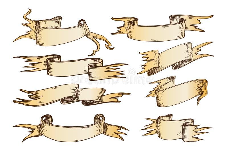 Hand gezeichnete Bandvektorillustration lizenzfreie abbildung