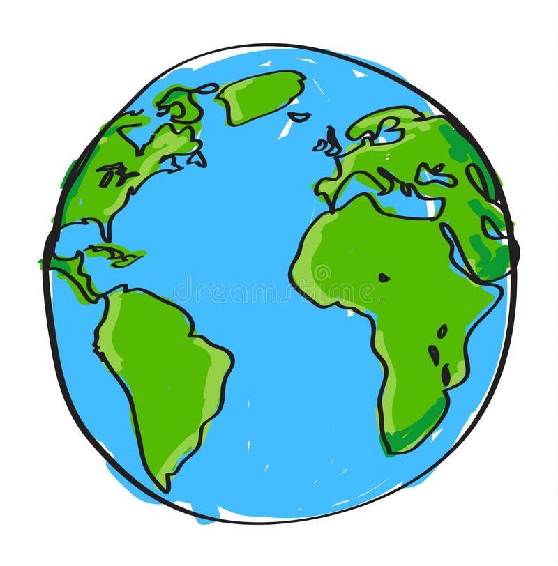 Hand gezeichnete Erde vektor abbildung