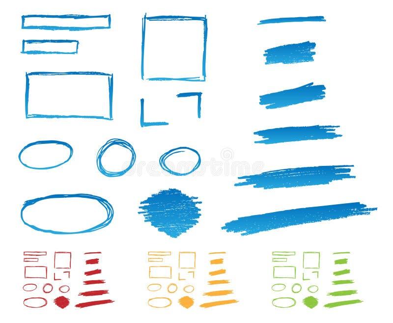 Hand gezeichnete Felder lizenzfreie abbildung