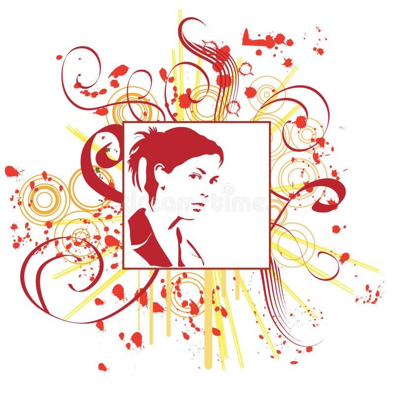 Hand gezeichnete Frau lizenzfreie abbildung