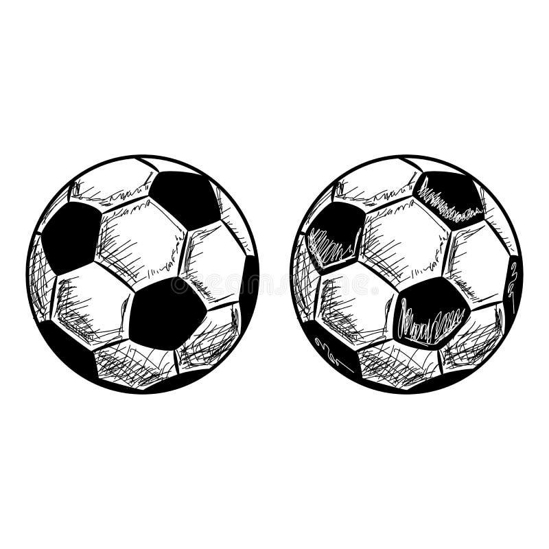 Hand Gezeichnete Fussball Fussball Vektor Skizze Vektor