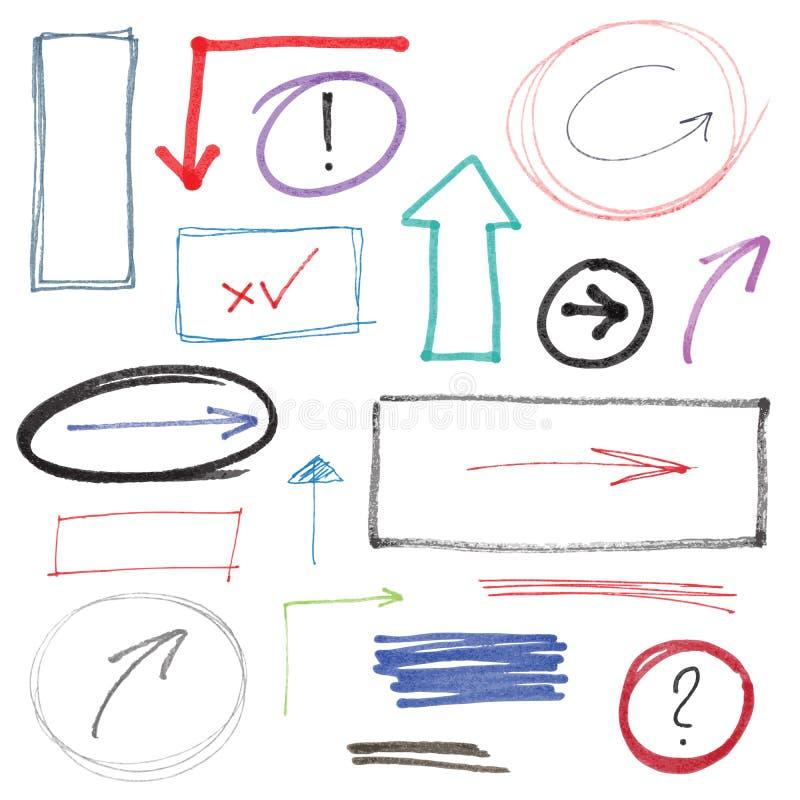 Hand gezeichnete Gestaltungselemente lizenzfreie abbildung