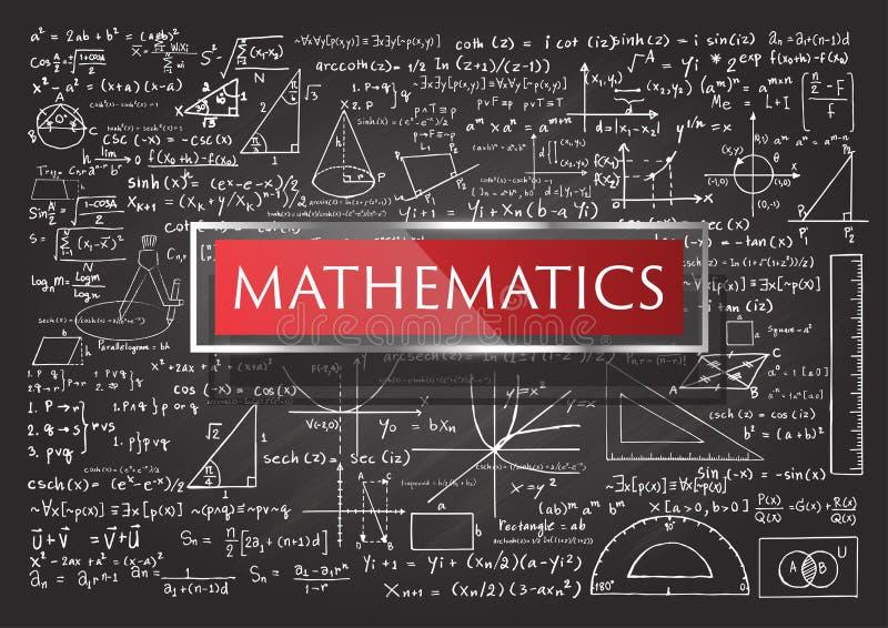 Hand gezeichnete Mathematik lizenzfreie abbildung