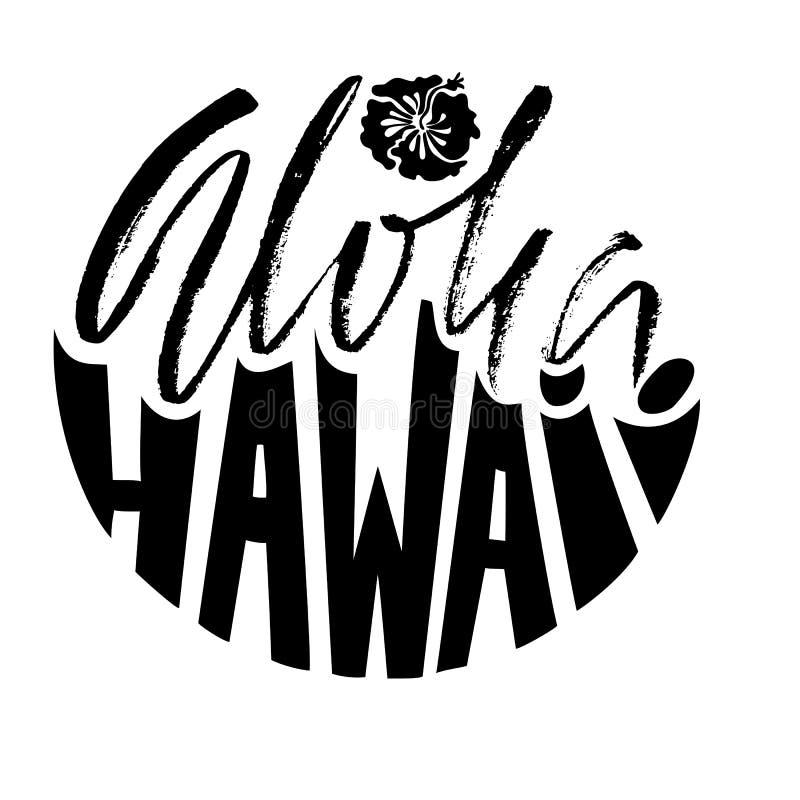 hand gezeichnete phrase aloha hawaii modern trocknen sie b rstenbriefgestaltung f r poster t. Black Bedroom Furniture Sets. Home Design Ideas