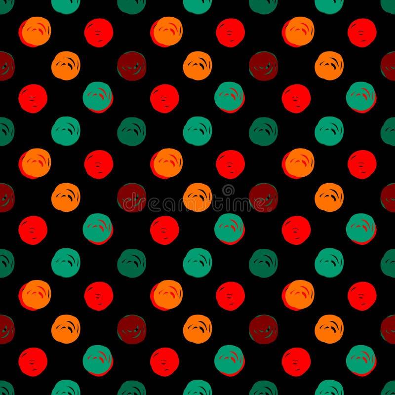 Hand gezeichnete Polka Dots Seamless Texture lizenzfreie abbildung