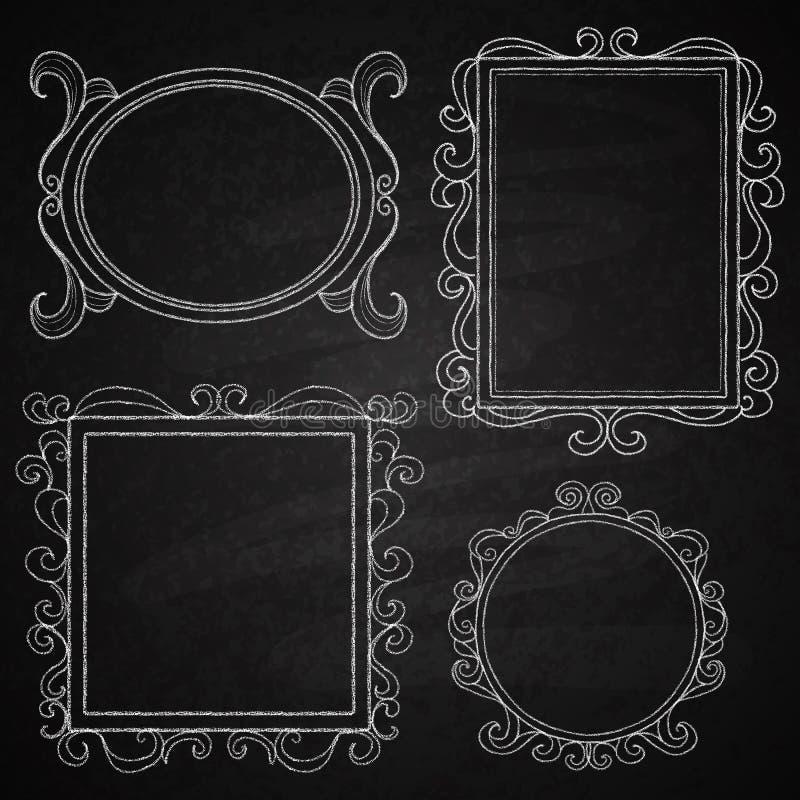 Hand gezeichnete Rahmen. stockfoto